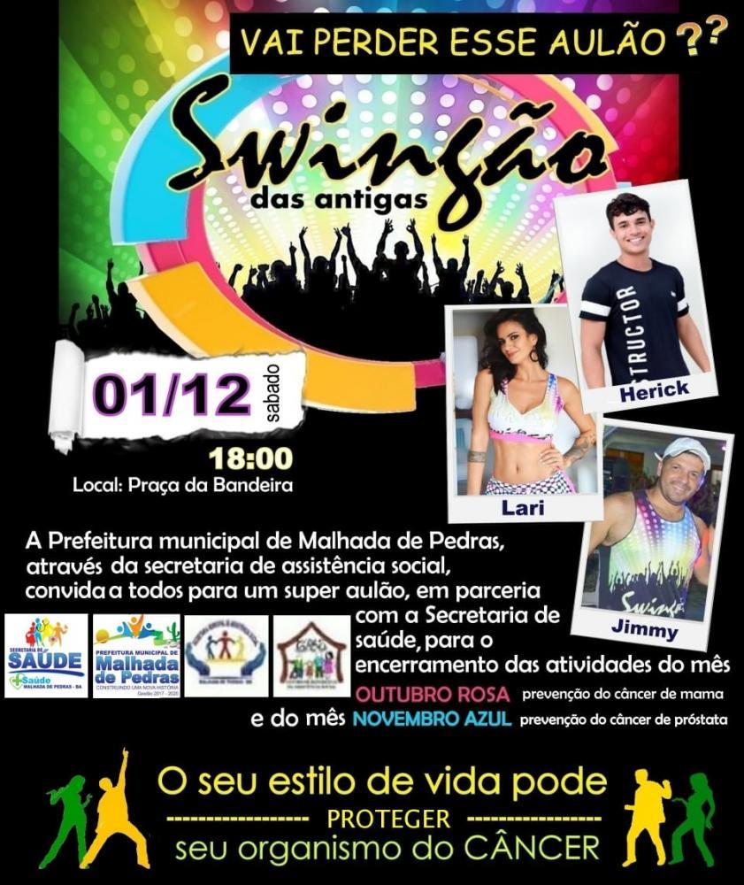 Prefeitura e Secretaria de Assistência social de Malhada de Pedras realizará Swingão das Antigas neste sábado