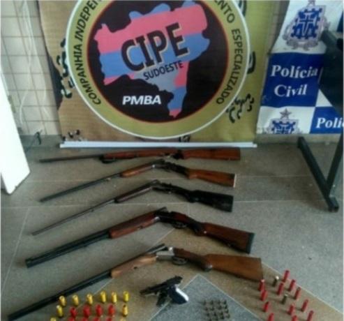 Cipe Sudoeste apreende diversas armas na zona rural de Carinhanha