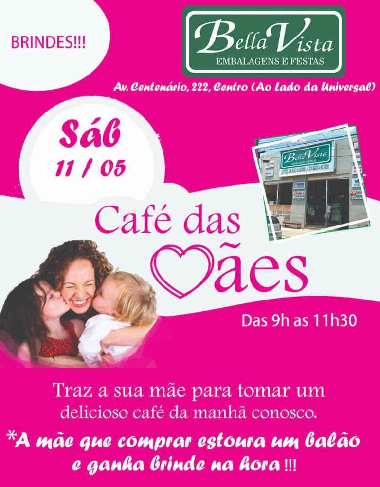 Bella Vista promove Café Especial em homenagem às mães neste sábado