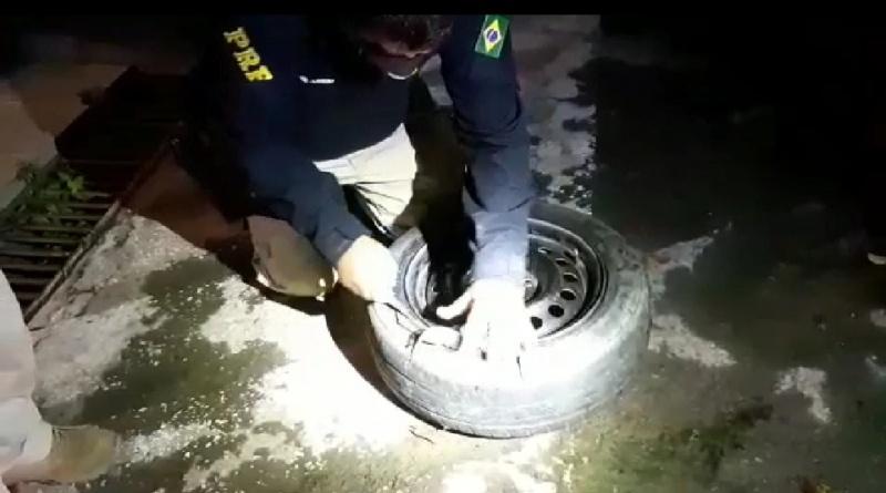 Feira de Santana: 'Supermaconha' é encontrada em estepe de carro na BR 116