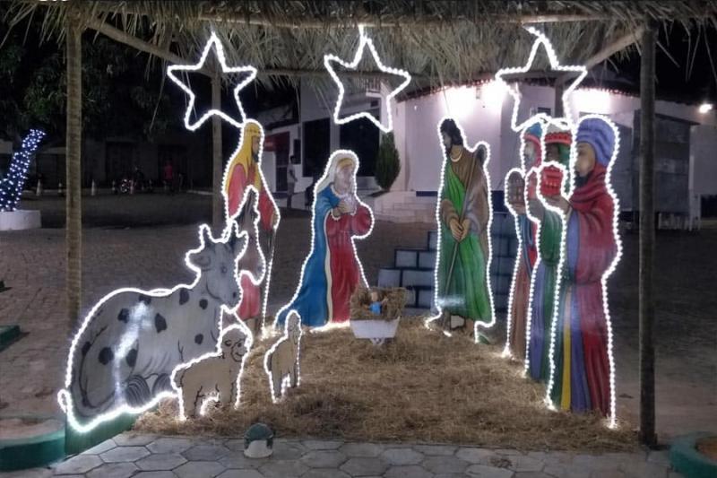Guajeu: Visitação a Decoração de Natal na Praça da prefeitura seguirá protocolos de segurança