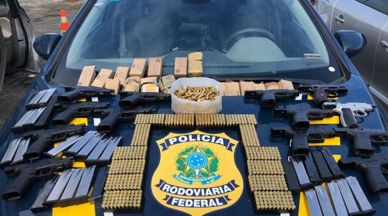 PRF registra aumento de quase 300% de pistolas apreendidas nas estradas federais da Bahia