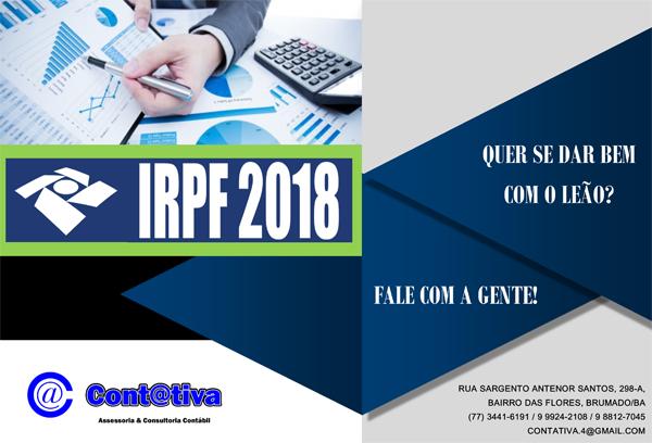 Contativa Contabilidade: A Declaração de IRPF 2017/2018 está chegando. Programe-se!