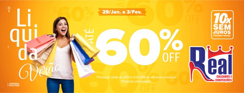 Brumado: Ainda dá tempo de aproveitar, a Liquida Real segue até sábado (03); descontos de até 60%