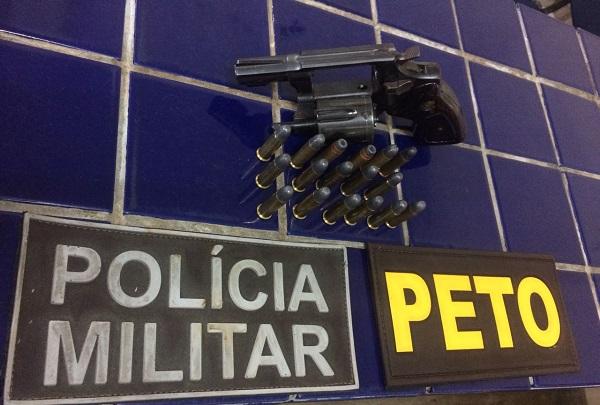 Polícia Militar tira mais uma arma de circulação: Uma pessoa foi conduzida a delegacia