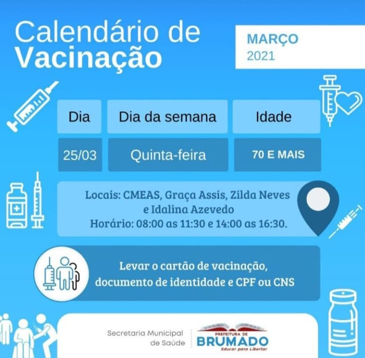 Brumado: Secretaria informa nova etapa de vacinação Covid-19