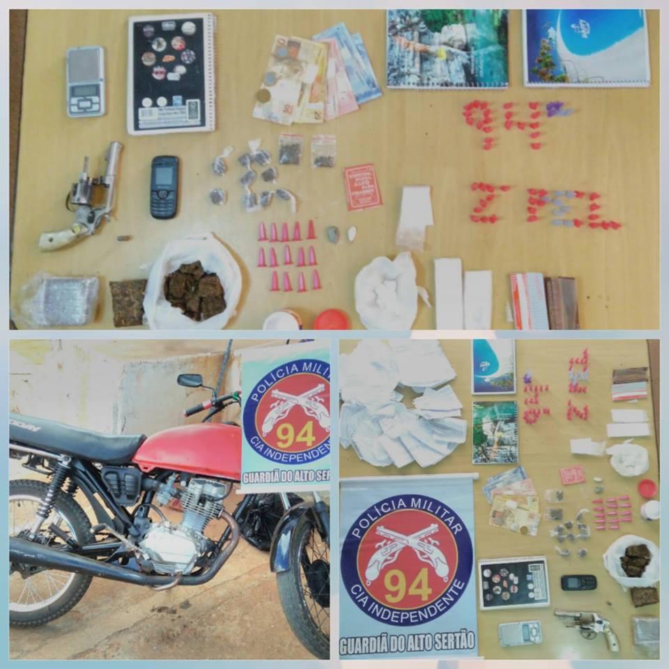 Polícia apreende drogas e arma em residência na cidade de Caculé