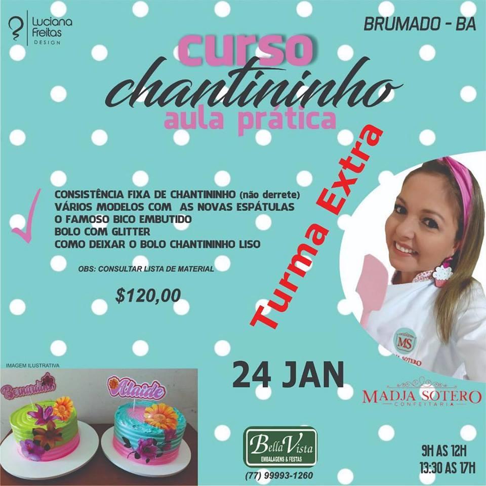 Bella Vista abre vagas extras para curso de Chantininho com a instrutora Madja Sotero