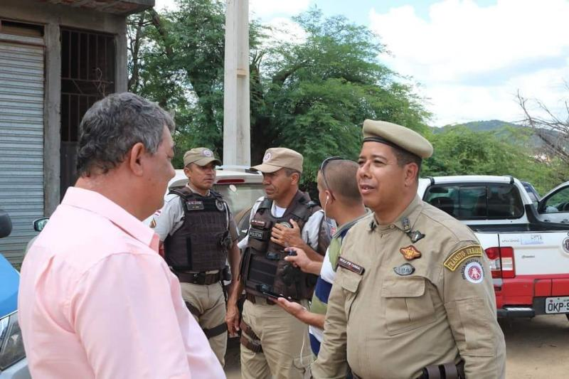 Comandante da PM visita distrito de  Ibitira onde será instalado efetivo permanente