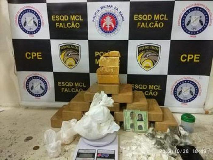 Quarteto é preso com quase 20 quilos de drogas em Vitória da Conquista