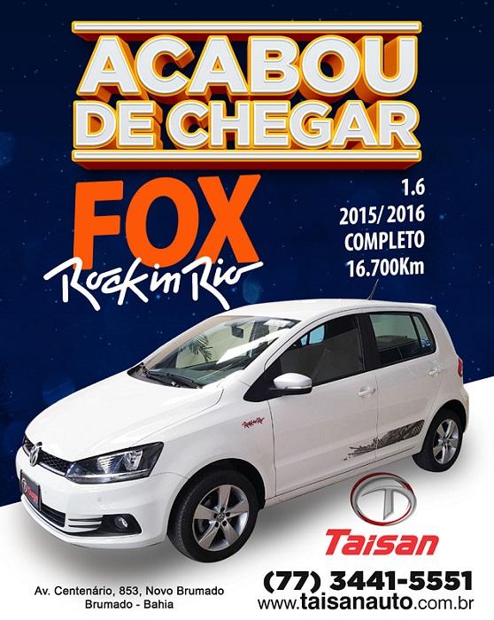 Acaba de chegar na Taisan Auto o Fox Rock in Rio 1.6 completo; confira