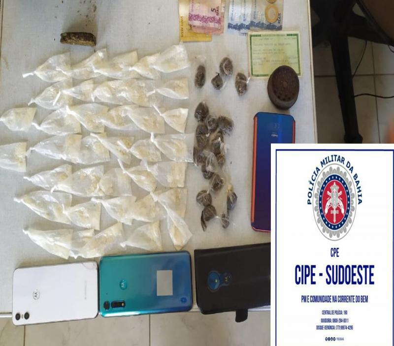 Presidente Jânio Quadros: Dupla é detida acusada de tráfico de drogas
