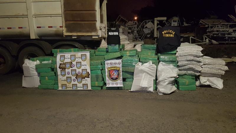 SSP, PF e PRF interceptam 3 toneladas de maconha que seriam entregues na Bahia