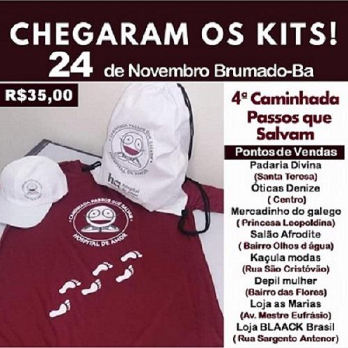 4ª Caminhada Passos que Salvam acontece em Brumado em Novembro; apoie esta causa