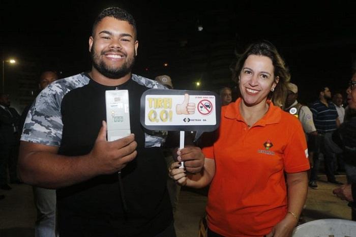 Bahia: Detran realiza 1,5 mil testes do bafômetro no fim de semana