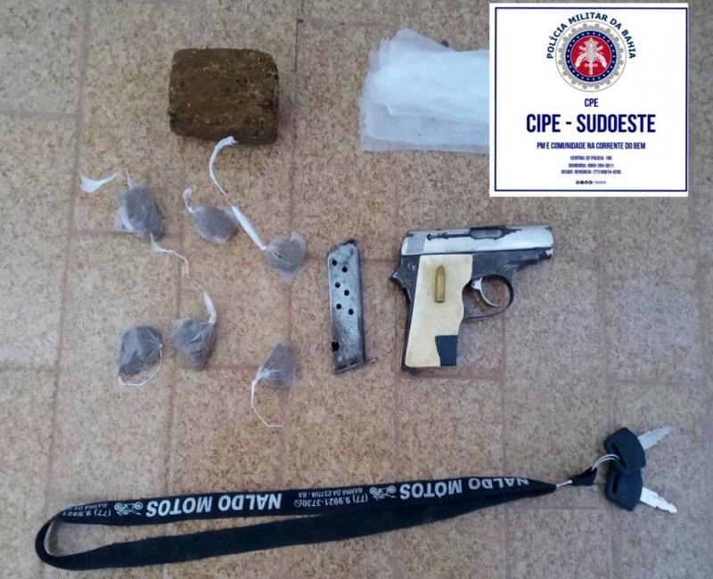 Barra da Estiva: Caesg apreende arma de fogo e drogas na zona rural