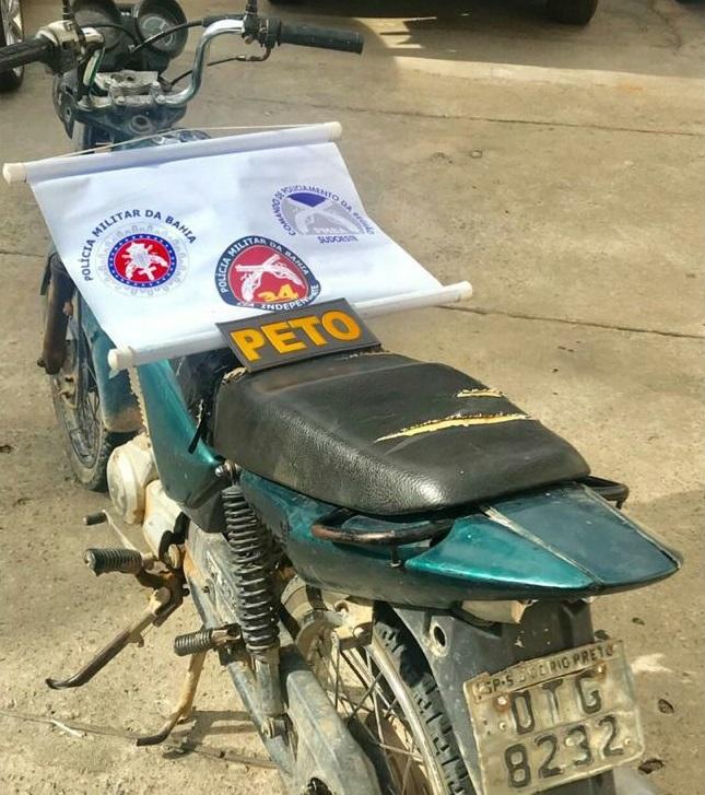 Polícia Militar recupera motocicleta com restrição de furto/roubo em Brumado