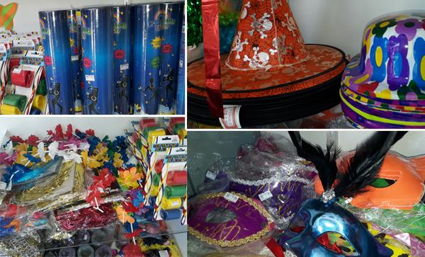 A Bella Vista Embalagens e Festas já dispõe de novidades em fantasias e acessórios de Carnaval