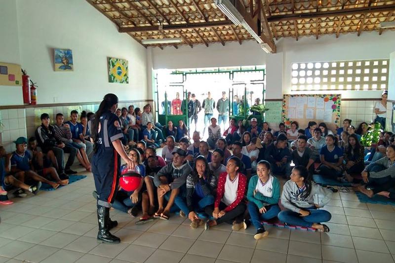 """Guajeru: Secretaria de Saúde promove o """"Samuzinho na Escola""""; Projeto enfoca as atividades do SAMU-192"""