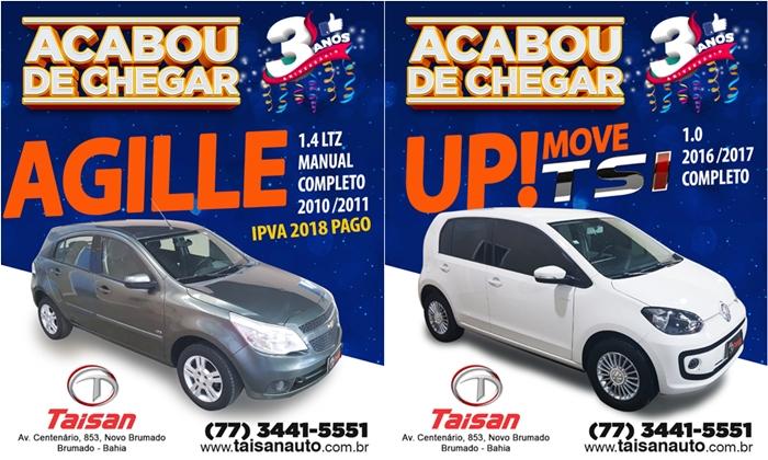 Compre seu veículo novo ou semi-novo na Taisan Auto: Acaba de chegar novidades
