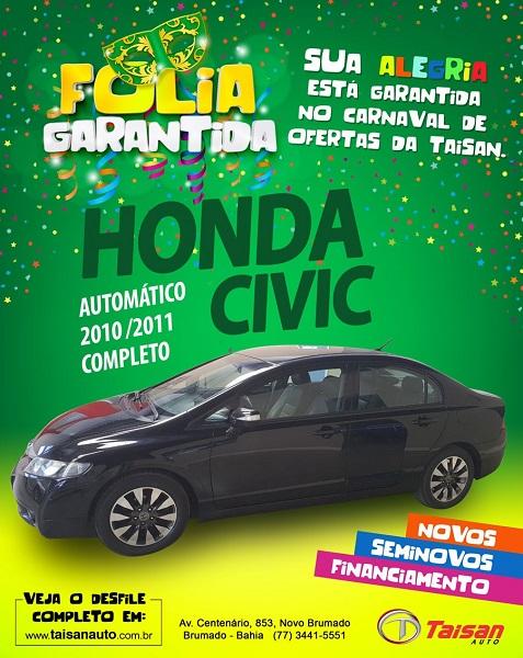 Aproveite a oportunidade e adquira o seu Honda Civic na Taisan Auto
