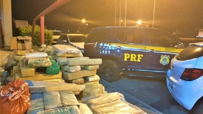 Duzentos quilos de maconha são apreendidos após perseguição policial em Vitória da Conquista