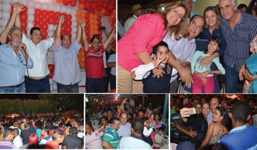 Após convenção que oficializou sua candidatura, Albercinho é ovacionado pelo povo em Ituaçu