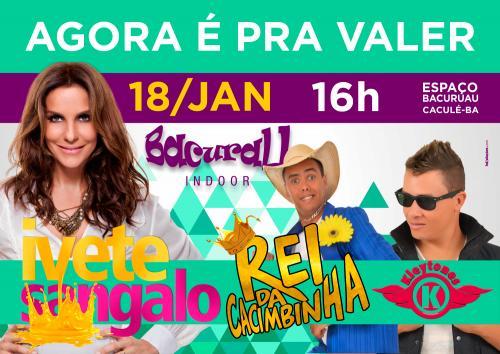 Confirmado: Show de Ivete Sangalo em Caculé foi remarcado para o dia 18 de janeiro a partir das 16h00min.