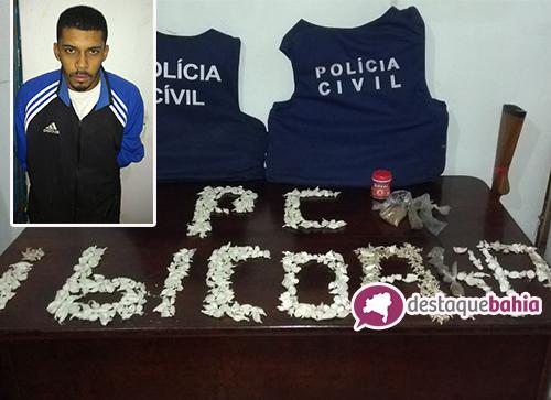 Brumadense é preso com grande quantidade de drogas em Cascavel, distrito de Ibicoara