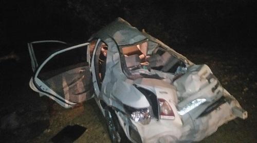 Carro fica destruído, mas motorista sai ileso em grave acidente na BR - 030, em Caetité