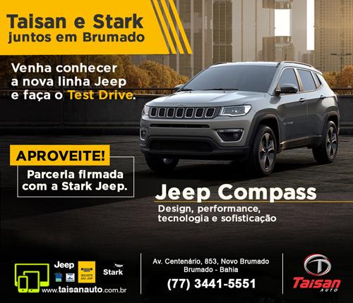 Taisan Auto fecha parceria com a Stark e o seu Jeep Compass ficou ainda mais fácil de ser adquirido