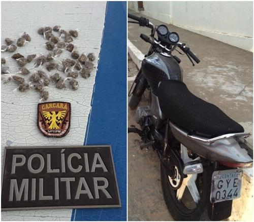 Duas pessoas são detidas com drogas em Aracatu; um é menor de idade