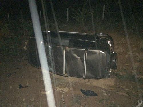 Carro capota após Motorista perder o controle da direção na Ba- 623, entre Vila Mariana e Maetinga