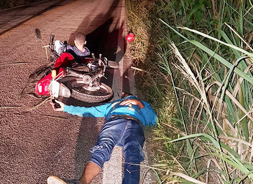 Em Ituaçu carro invade contramão e atinge motociclista e carona