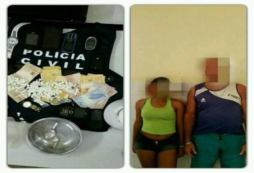 Polícia prende casal por tráfico de drogas em Livramento