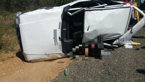 Carro com família de Brumado capota na BR-030 e uma pessoa morre