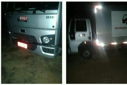 Caminhão roubado em Dom Basílio é recuperado pela Polícia em Caturama