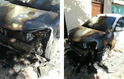 Oficial de Justiça conquistense tem veículo incendiado em Ituaçu