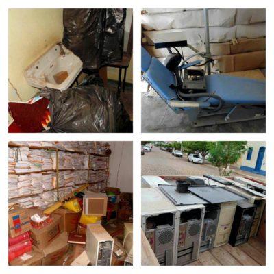 Materiais que poderiam estar sendo usados foram abandonados na Biblioteca de Ituaçu