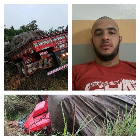 Caminhoneiro de Malhada de Pedras morre em grave acidente em Minas