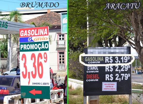 Gasolina em Aracatu é vendida mais barata que em Brumado