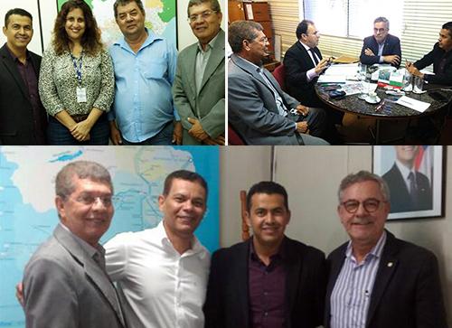 Guajeru: Prefeito Gil rocha cumpre agenda em Salvador em busca de melhorias para o município