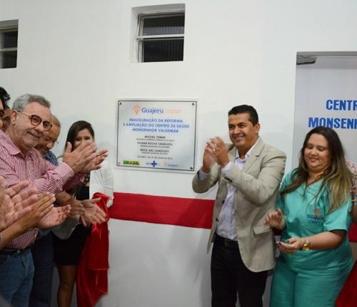 Guajeru: Centro de saúde, laboratório municipal e quadra poliesportiva são entregues a população