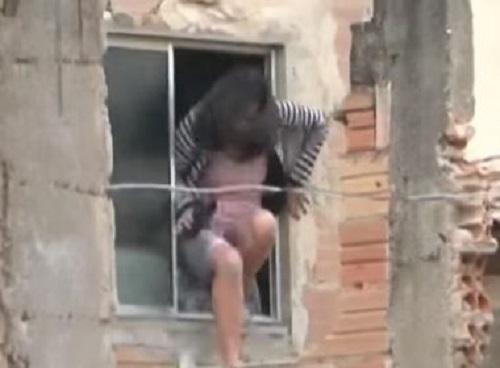 Conquista: Mulher pula de janela para fugir de ex-marido; homem aprisionou ex e filhas