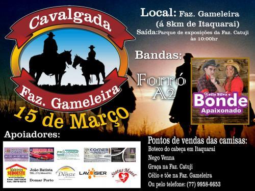 Domingo acontece a grande cavalgada da Fazenda Gameleira