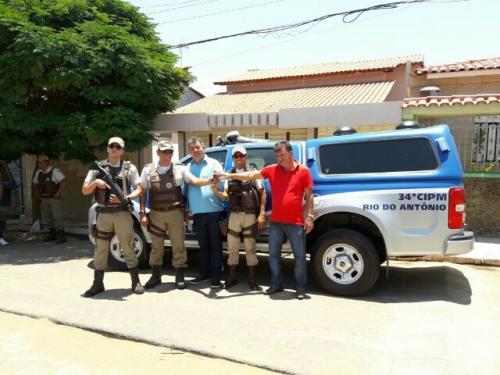 34ª CIPM recebe mais uma viatura nova que será destinada à Rio do Antônio