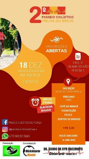 Será realizado em Ituaçu o 2º passeio ciclístico 'Trilha do Brejo'
