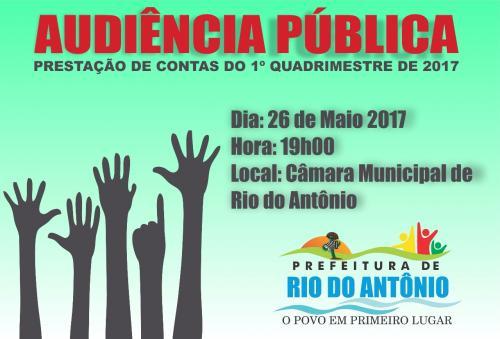 Prefeitura de Rio do Antônio realizará audiência pública para prestar contas à população