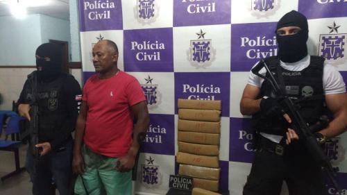 Homem é preso com 9 kg de maconha em Guanambi, no Bairro Beija Flor II
