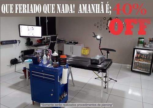 Amanhã 02/11 tem desconto de 40% em procedimento de Piercing no estúdio Leo Trindade Tattoo